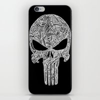 punisher iPhone & iPod Skins featuring Punisher  by christoph_loves_drawing