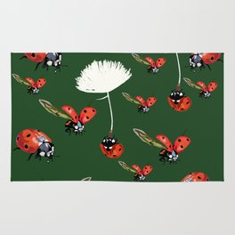 Ladybug flight Rug