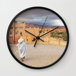 Moroccan Life Oil Painting Wall Clock