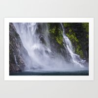 waterfall Art Prints featuring Waterfall.. by Michelle McConnell