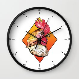 Diamond Rooster Wall Clock