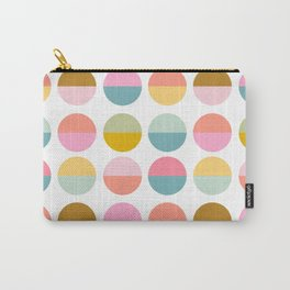 Colorful and Bright Circle Pattern Carry-All Pouch