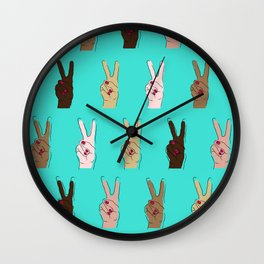 peace, out. Wall Clock