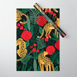 Leopards & Roses Pattern Wrapping Paper