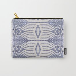 FRENCH LINEN TRIBAL IKAT Carry-All Pouch