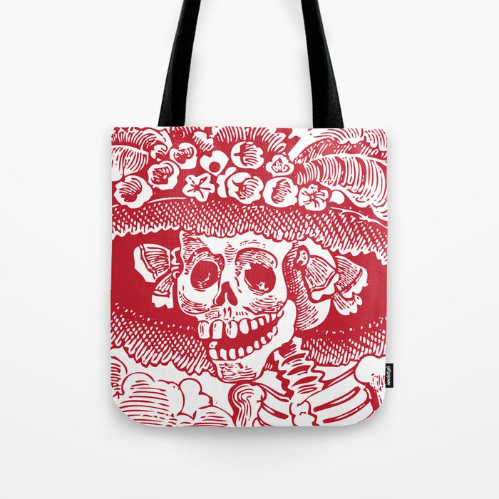 Eclecticatheart Tote And Society6 White CatrinaRed By Calavera Bag lK3FJTu1c