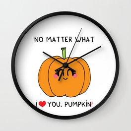I love you pumpkin Wall Clock