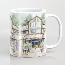 Coffee Shop Art Urban City Watercolor Coffee Mug