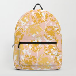 Seeds in yellow Backpack