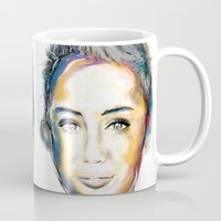 miley cyrus Mugs featuring Miley Cyrus by caffeboy