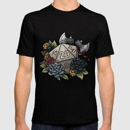 Barbarian Class D20 - Tabletop Gaming Dice T-shirt