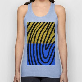 blue/yellow/black Unisex Tank Top
