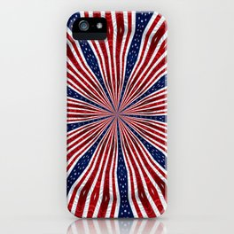 American Flag Kaleidoscope Abstract 1 iPhone Case