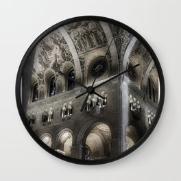 Arches in Black and White Wall Clock