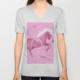Unicorn in pink Unisex V-Neck