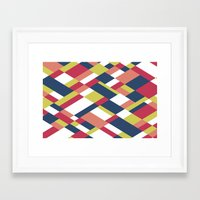 matisse Framed Art Prints featuring Map Matisse by Project M