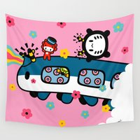 train Wall Tapestries featuring train train train.... by Ziqi