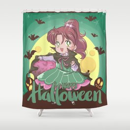 Happy Halloween Makoto Shower Curtain