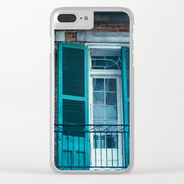 French Quarter Blues, No. 1 Clear iPhone Case