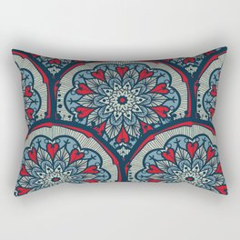 Mandala Seamless Pattern Rectangular Pillow