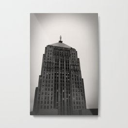 Chicago Board of Trade Building Black and White Metal Print