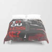 moriarty Duvet Covers featuring Did You Miss Me? / IOU / Moriarty / II by Earl of Grey
