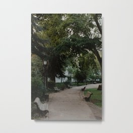 An Afternoon at the Park in Lisbon Metal Print
