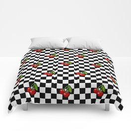 Checkered Cherries Comforters