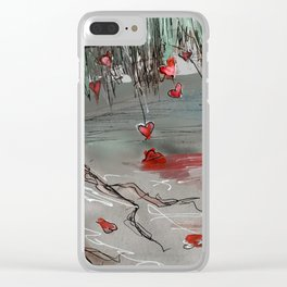Windy Willows Clear iPhone Case