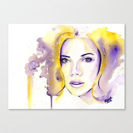 Purple Yellow Scarlett Canvas Print