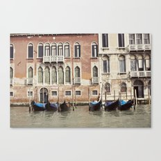 boat parking::venice, italy Canvas Print