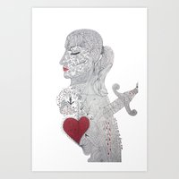 selfie Art Prints featuring Selfie by Ina Spasova puzzle