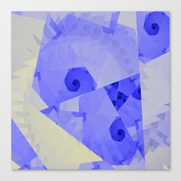 Fractal Designs Blue Face at GreenBeeMee Canvas Print