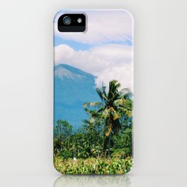 Mount Rinjani in Lombok, Ionesia iPhone Case