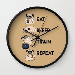 Eat Sleep Train Repeat Wall Clock