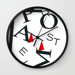 Abstract Shapes I Letters Wall Clock