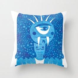 Monster #7 Throw Pillow