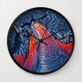 Kilauea Volcano Lava Flow. 3 Wall Clock