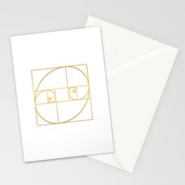 Golden Oval Stationery Cards