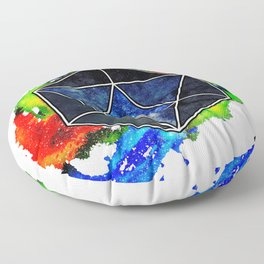 d20 Icosahedron of Imagination Floor Pillow