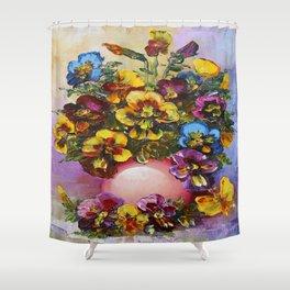 Pansies Shower Curtain