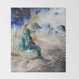 Mermaid: Front Throw Blanket