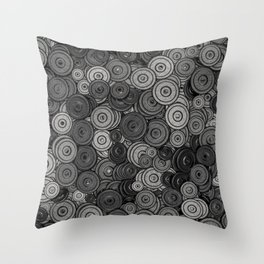 Heavy iron / 3D render of hundreds of heavy weight plates Throw Pillow