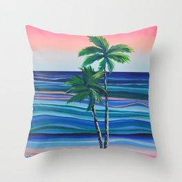 Palm Dream Throw Pillow