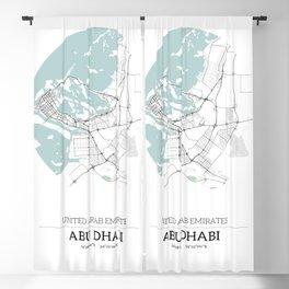 Abu Dhabi City Map with GPS Coordinates Blackout Curtain