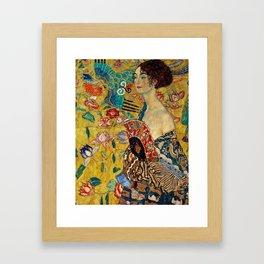 Gustav Klimt Lady With Fan Framed Art Print