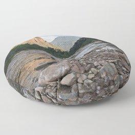 River of Rocks Floor Pillow