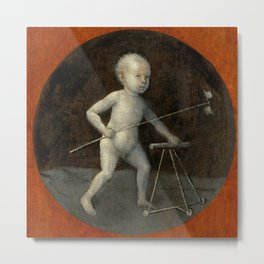 "Hieronymus Bosch ""Child with Pinwheel and Toddler's Chair"" Metal Print"