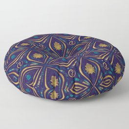 Lotus and OM symbol Luxury Pattern Floor Pillow
