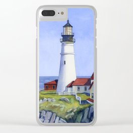 Portland Head Lighthouse Clear iPhone Case